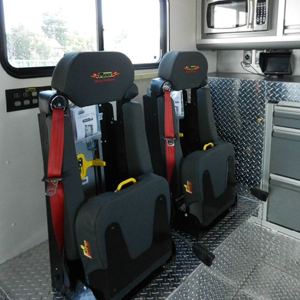 marion truck seats inside cab