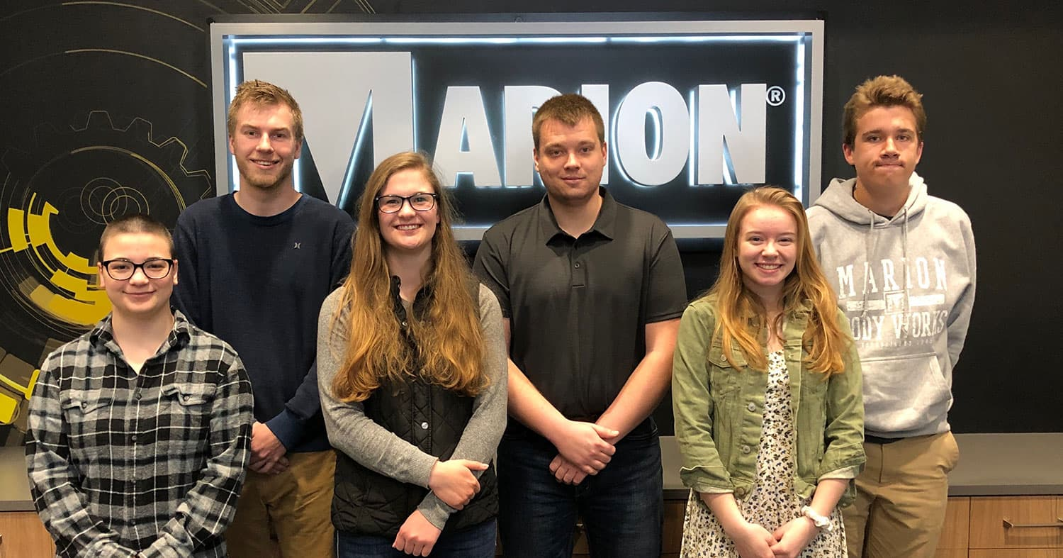 Marion Body Works Creates Hands-on Opportunities for Seven Interns in 2019
